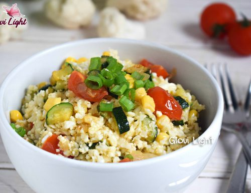 Finto cous cous LIGHT con verdure scottate CON IL BIMBY e senza