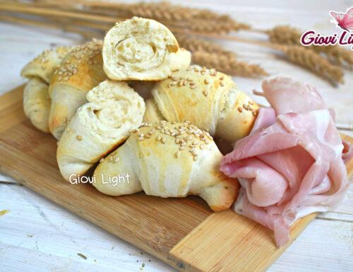 Mini croissant salati LIGHT per buffet CON IL BIMBY e senza
