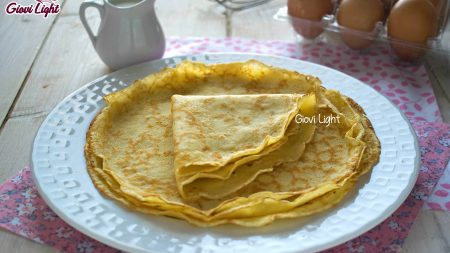 Crepes light - base leggera per farciture dolci o salate