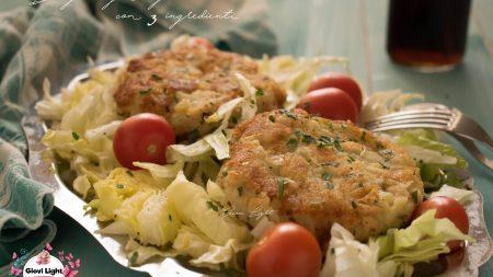 Burger vegan light con 3 ingredienti