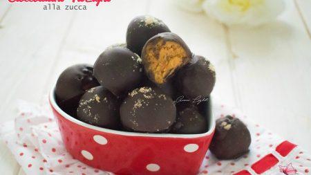 Cioccolatini light alla zucca
