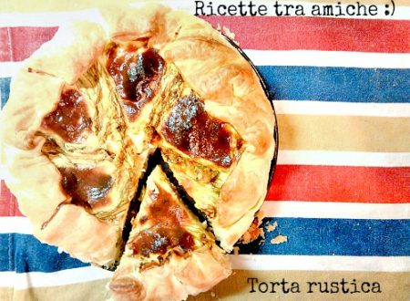 Torta rustica con fiori di zucca