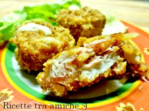 Bocconcini di pollo ripieni di prosciutto e formaggio