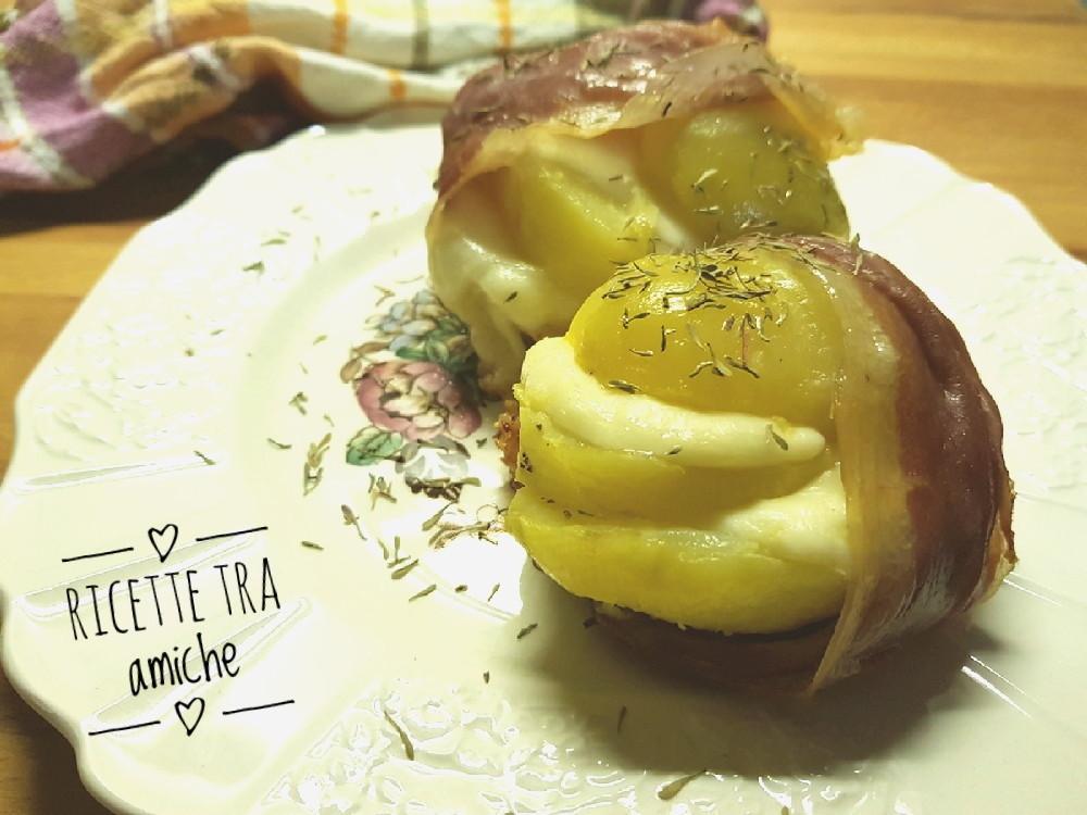 Sandwich di patate al prosciutto
