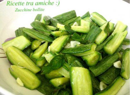 Zucchine bollite ricetta light