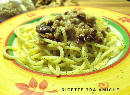 Spaghetti aglio olio e taralli.