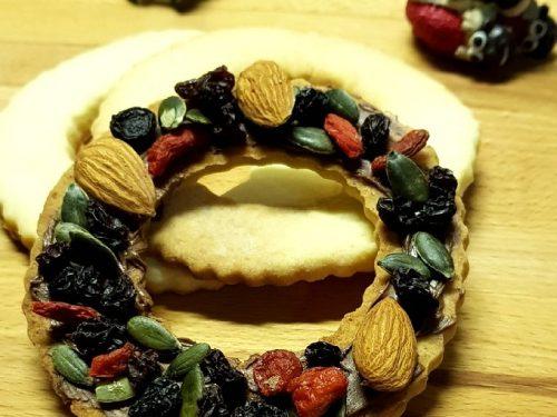 Biscotti ghirlanda natalizia