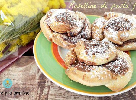 Roselline di pasta frolla alla nutella