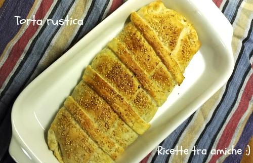 Torta rustica carciofi e formaggio pasta sfoglia.