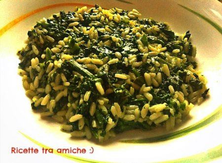 Risotto agli spinaci e parmigiano