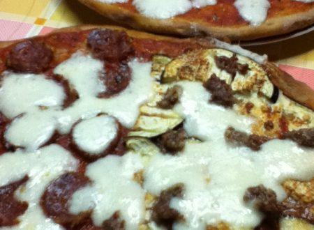 Pizza di farro ai quattro gusti