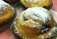 Muffin con cuore di marmellata di ciliegie