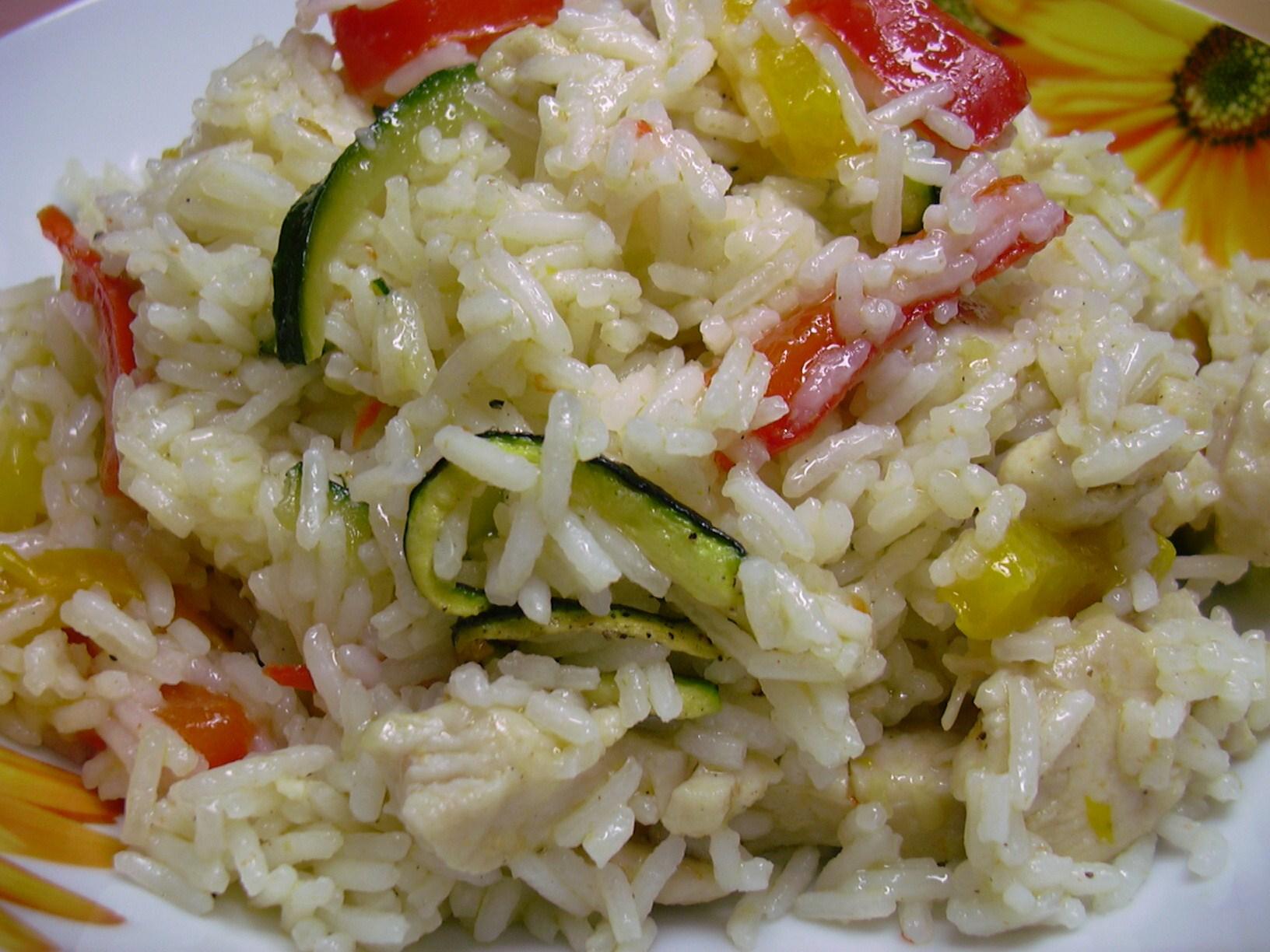 Riso basmati venere jasmine con peperoni zucchine e for Cucinare riso venere