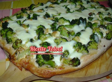 Pizza con broccoletti e Duetto Mauri