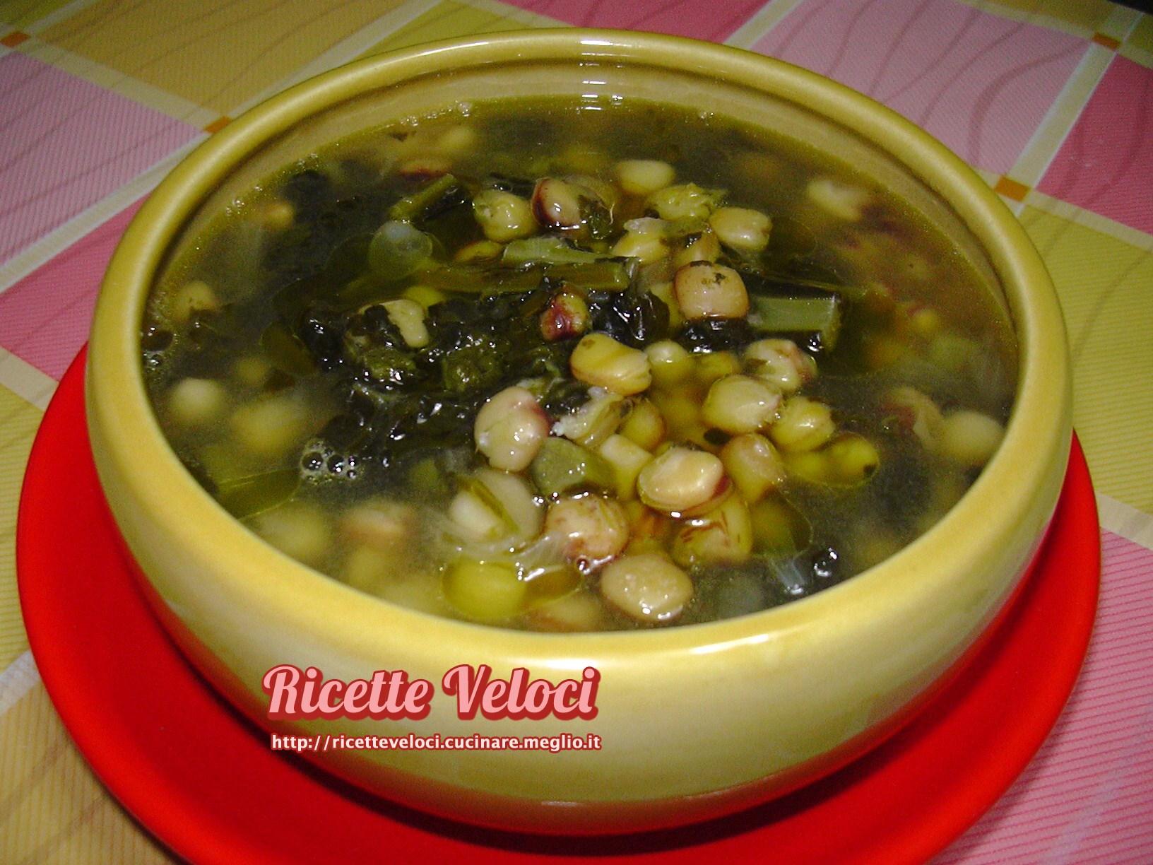 zuppa di cicerchia di serra de conti con cavolo nero e cipolla