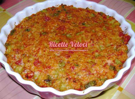 Miglio con zucchine, pomodori e origano bianco di sicilia