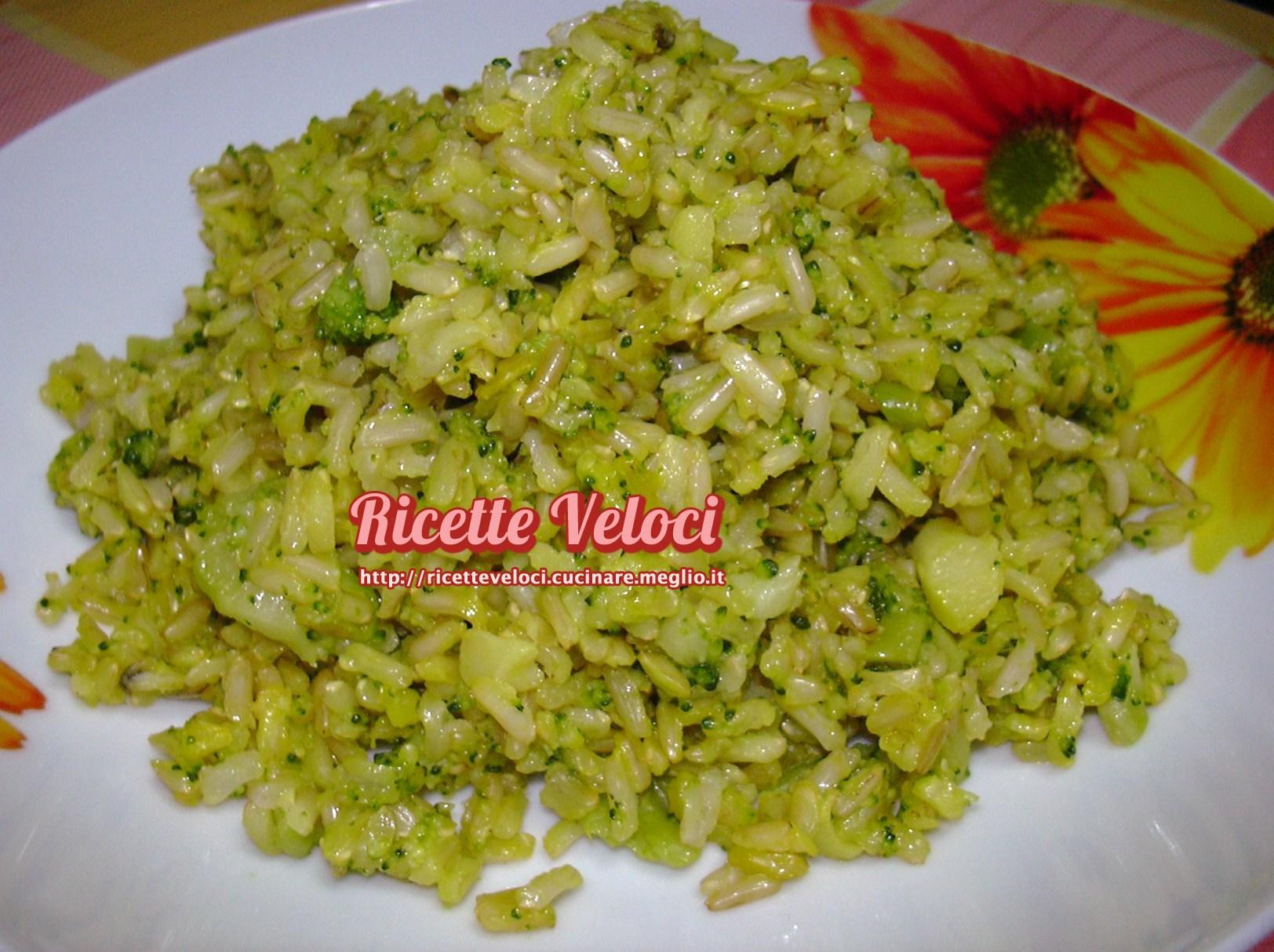 Riso basmati integrale con broccoletti e zafferano for Ricette di riso