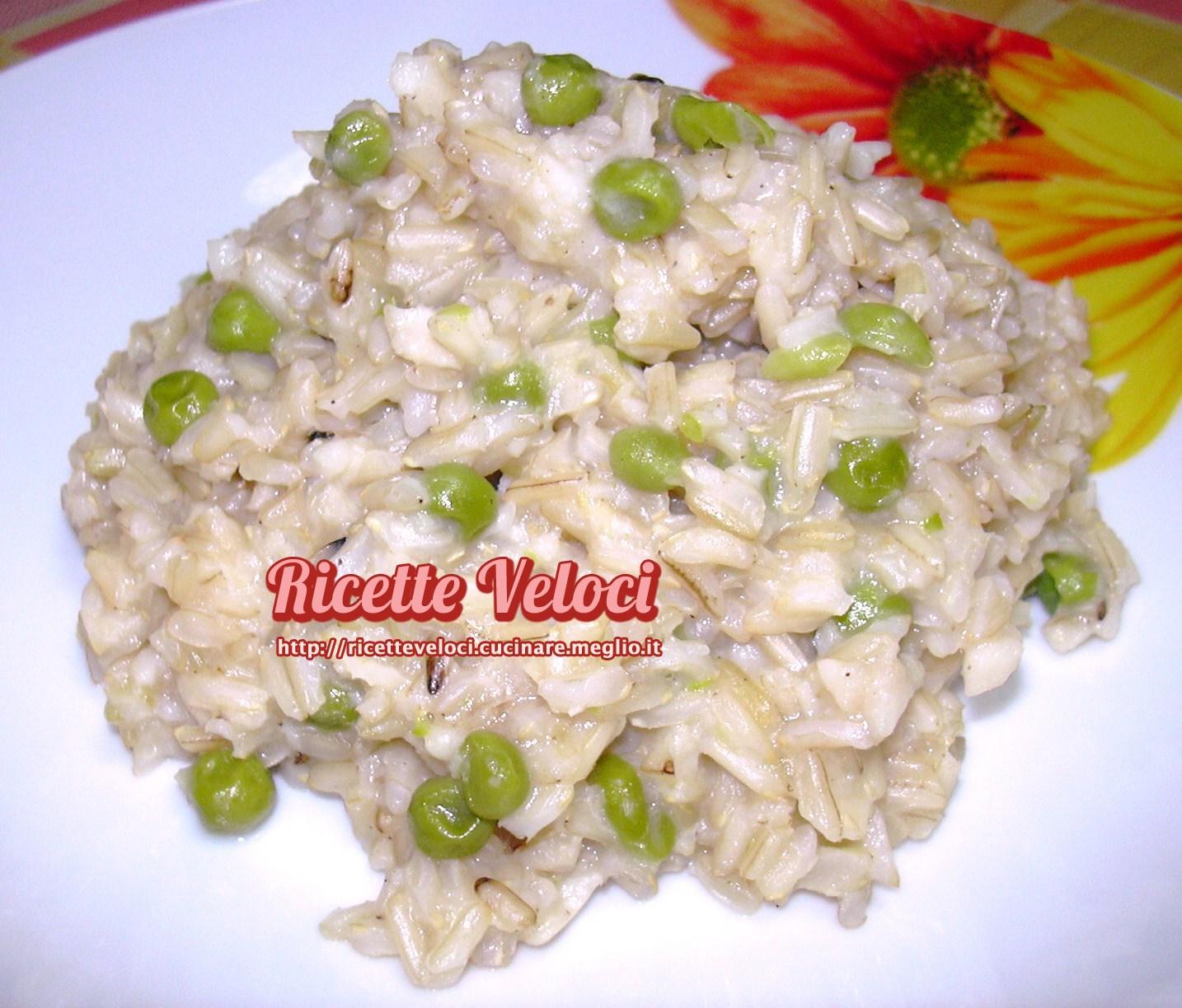 Risotto basmati integrale con filetti di nasello e piselli for Ricette risotti veloci