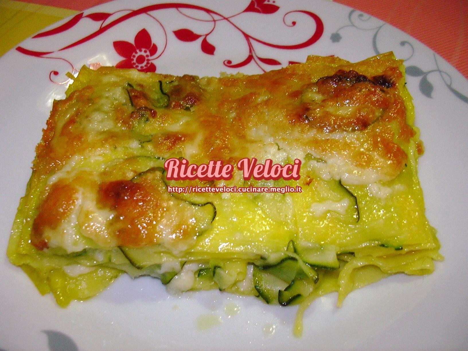 Lasagne bianche con zucchine e galbanino ricette veloci for Pasta ricette veloci