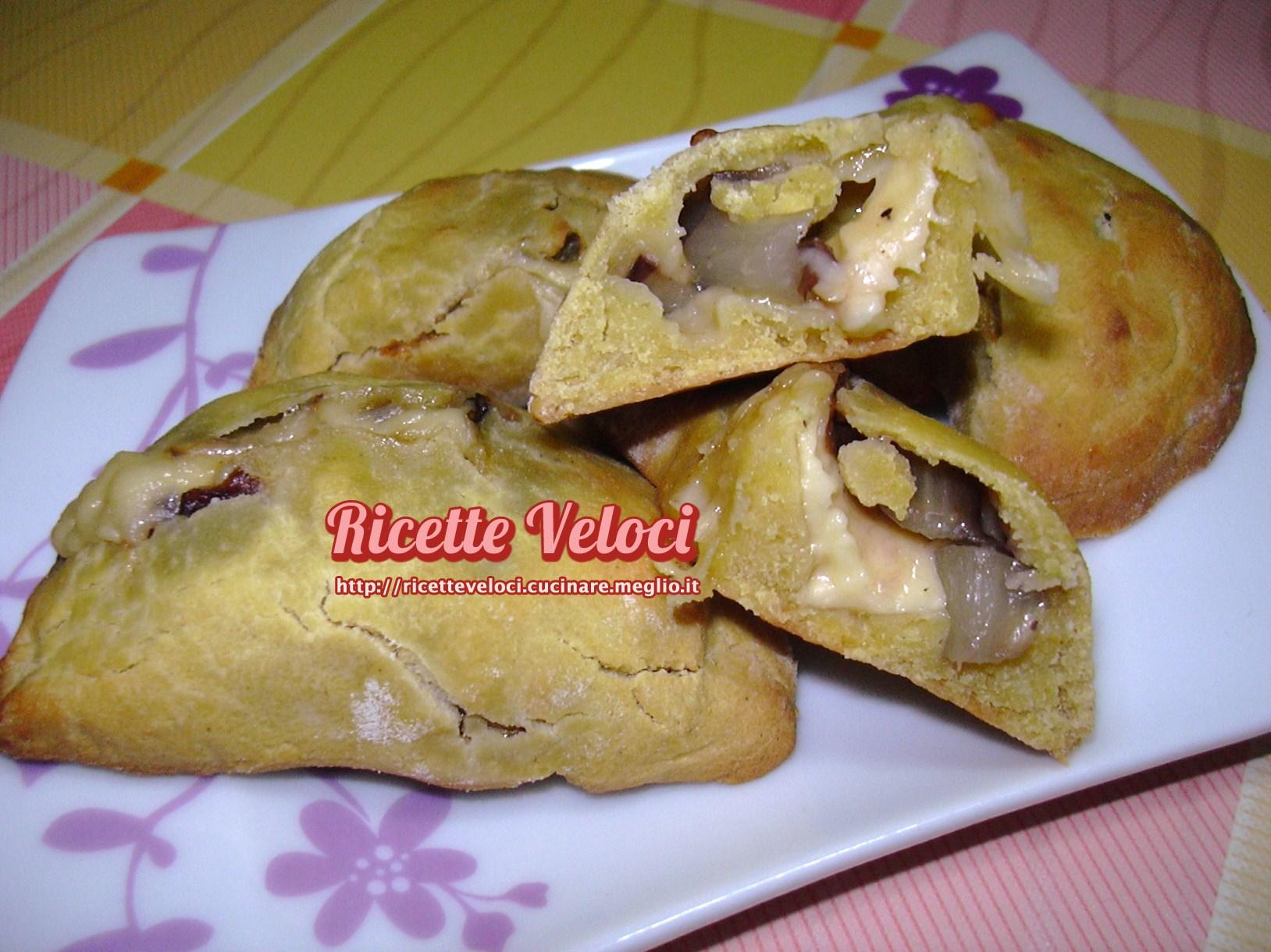 Mezzelune di miglio con radicchio di treviso e fontina for Cucinare miglio