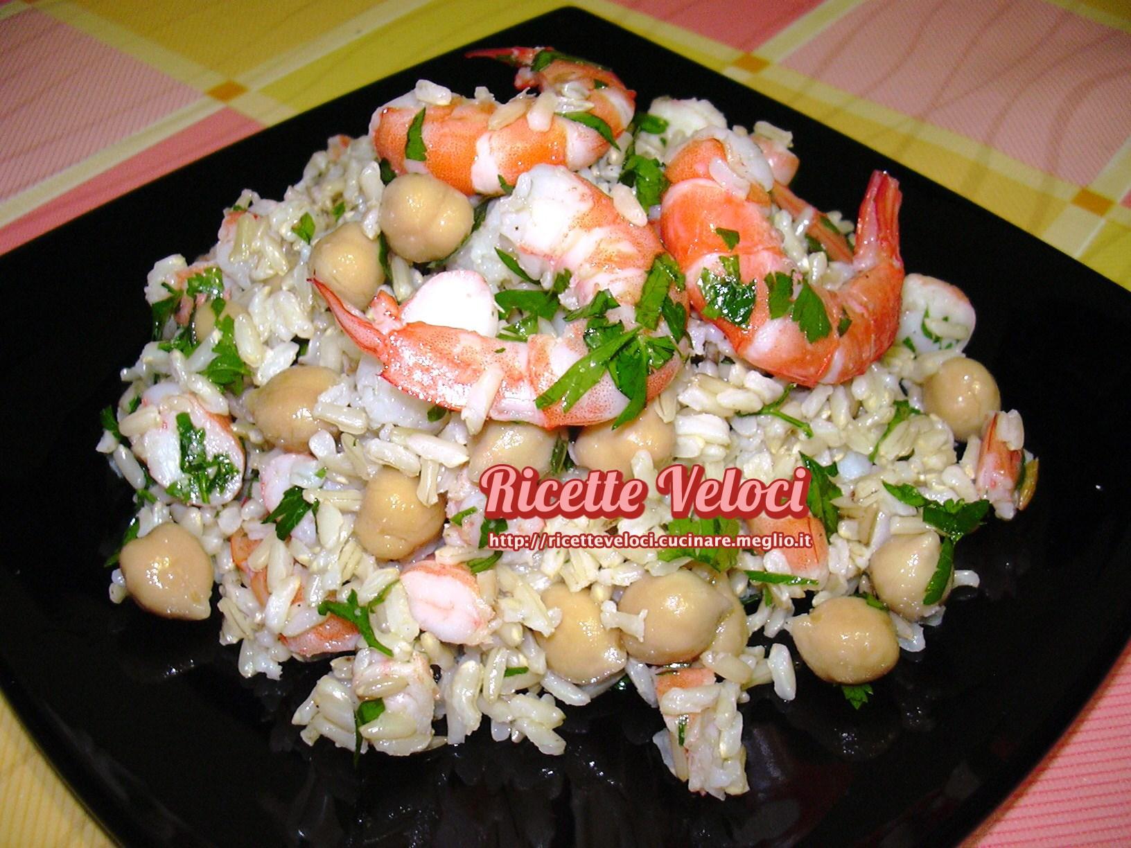 Insalata di riso thai integrale con mazzancolle e ceci ricette veloci di tania - Cucinare riso integrale ...