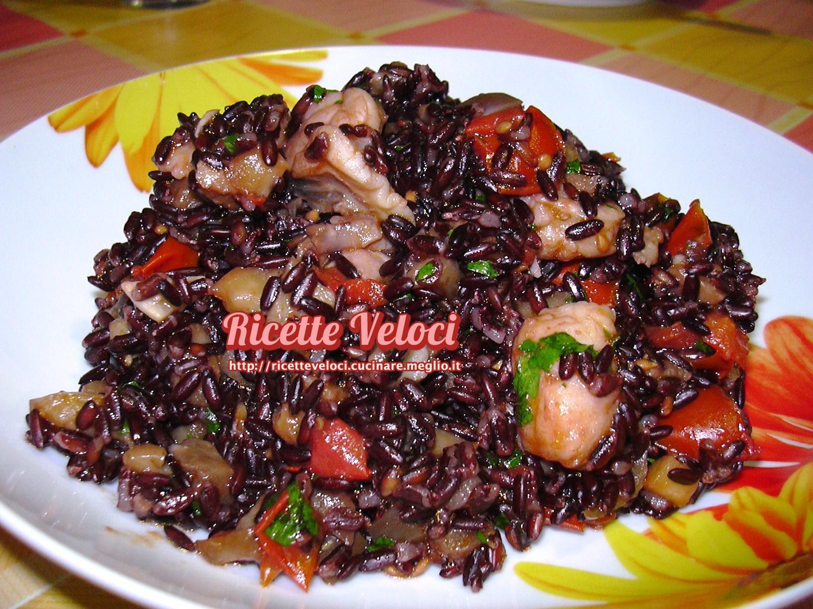 Riso venere con coda di rospo melanzane e pomodorini for Cucinare riso venere