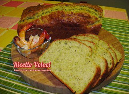 Plumcake salato al pesto di pistacchio e pecorino romano