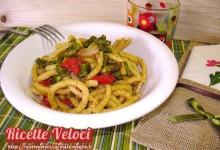 Passatelli semi integrali con asparagi, guanciale e pomodori datterini