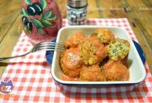 Polpette carne e spinaci in umido