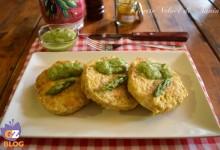 Hamburger di pollo speziato con salsa di asparagi