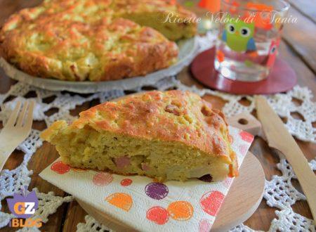 Torta salata con cavolfiore e prosciutto cotto