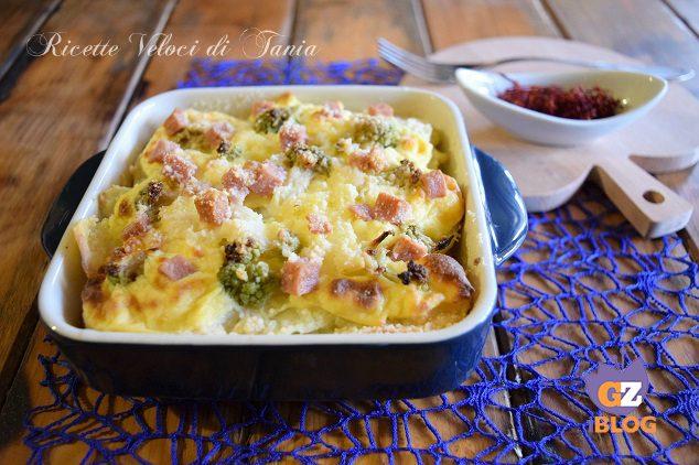 Teglia di broccoli e patate allo zafferano