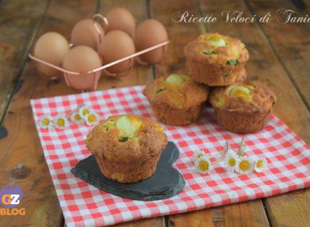 Muffin salati con fagiolini e uova di quaglia