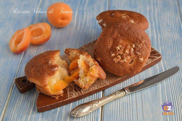 Muffin alla panna con albicocche
