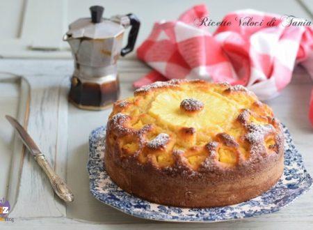 Torta con ananas e ricotta