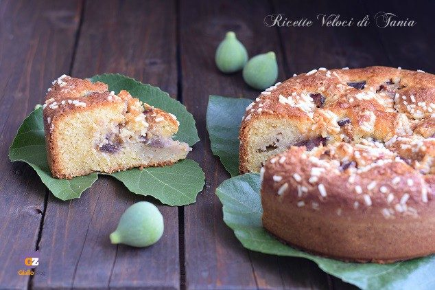 Torta soffice yogurt e fichi