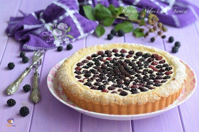 Crostata con ricotta al lemon curd e more