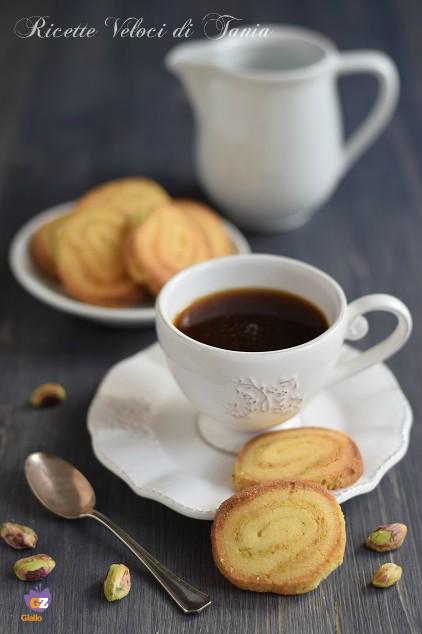 biscotti girella al pistacchio