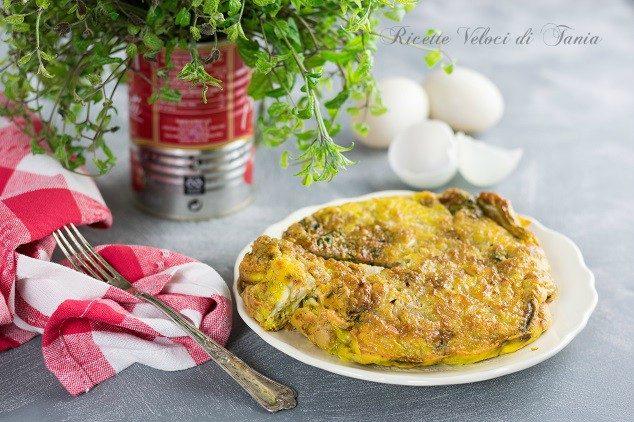 Frittata con vitalbe e cipolla