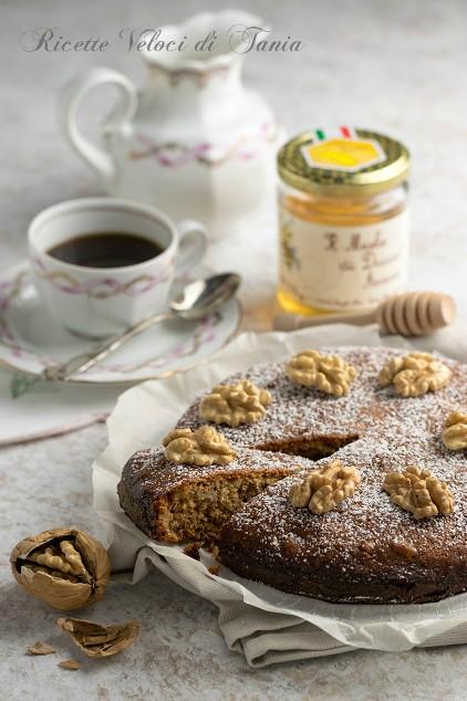 torta al miele e noci