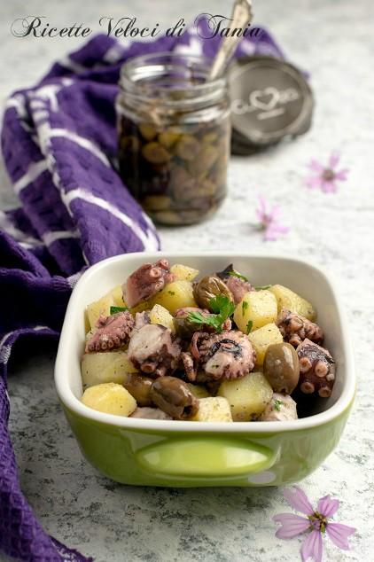 insalata di polpo con olive taggiasche
