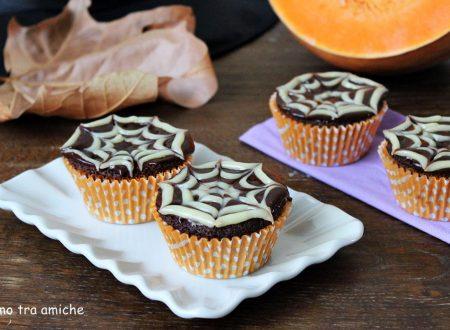 Cupcake halloween con ragnatela