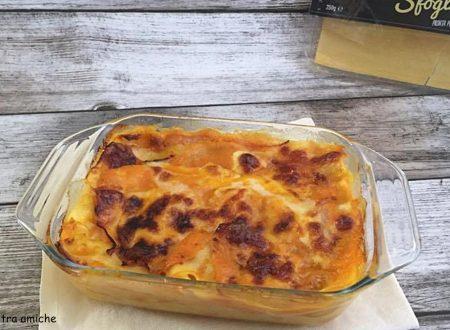 Lasagne con zucca e prosciutto cotto