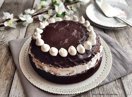 Torta al cioccolato con panna e nutella