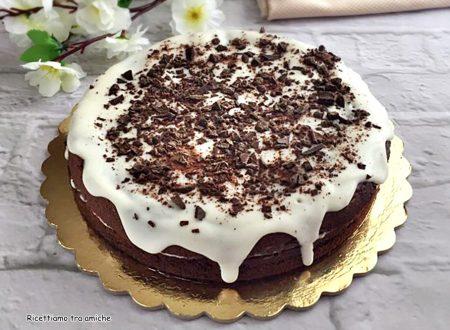Torta al cacao con crema al latte