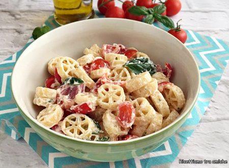 Rotelle con pomodorini e ricotta fresca