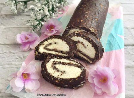 Rotolo di biscotti al cacao senza cottura