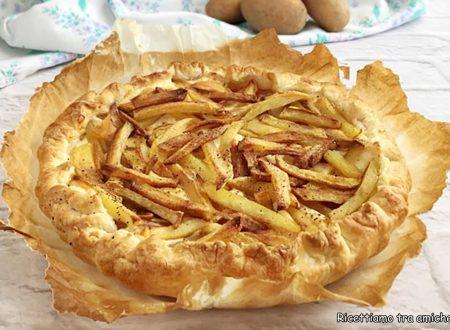 Torta rustica con ricotta prosciutto e patatine