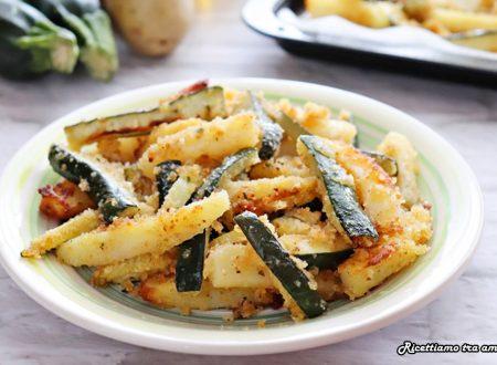 Patate e zucchine sabbiose al forno