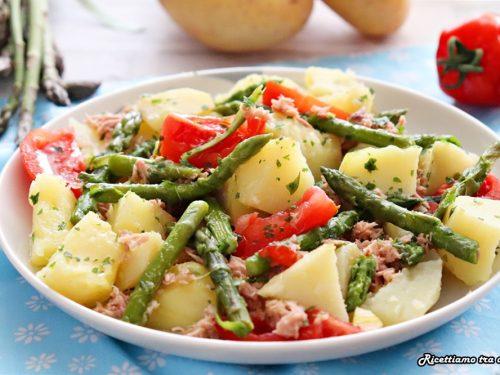 Insalata di patate asparagi e tonno